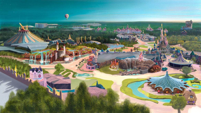 Digital Paint: Disneyland Paris, Visualisierung New-Fantasyland