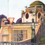 Urban Sketch: Hofpavillon Otto Wagner, Wien