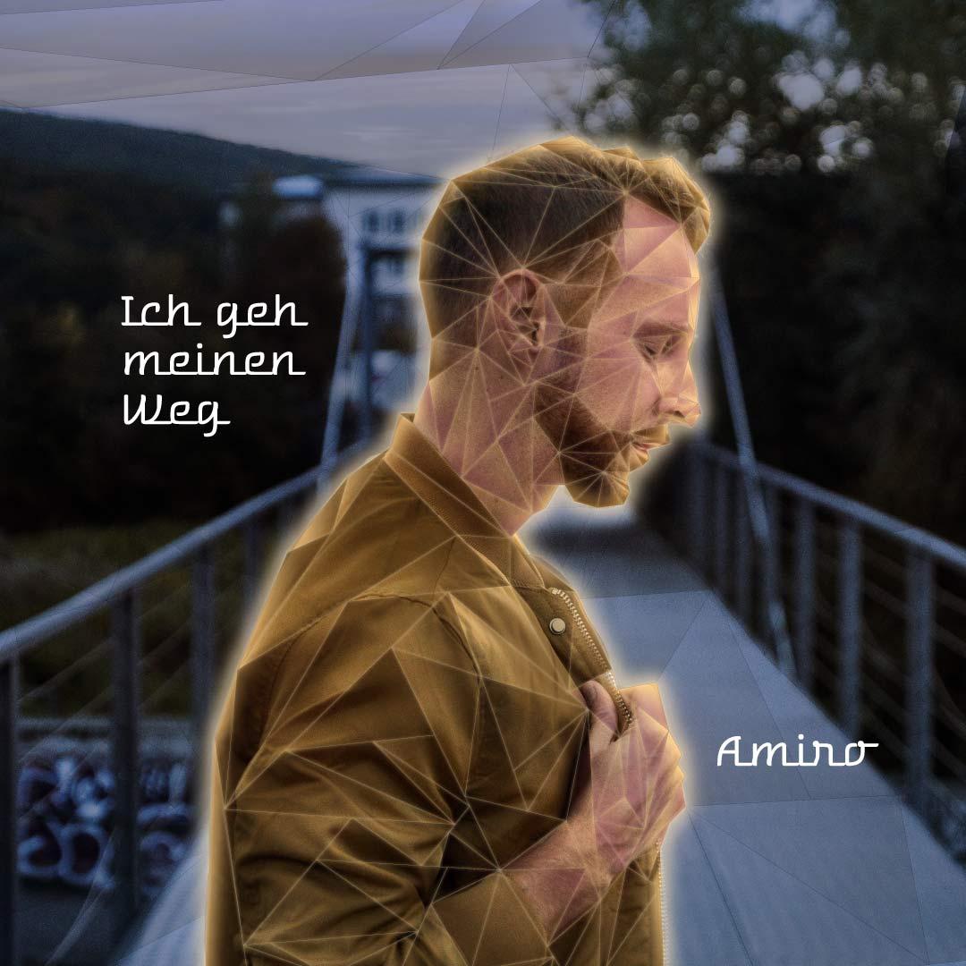 Album Cover: Ich geh meinen Weg, Amiro, Adobe Photoshop & Illustrator