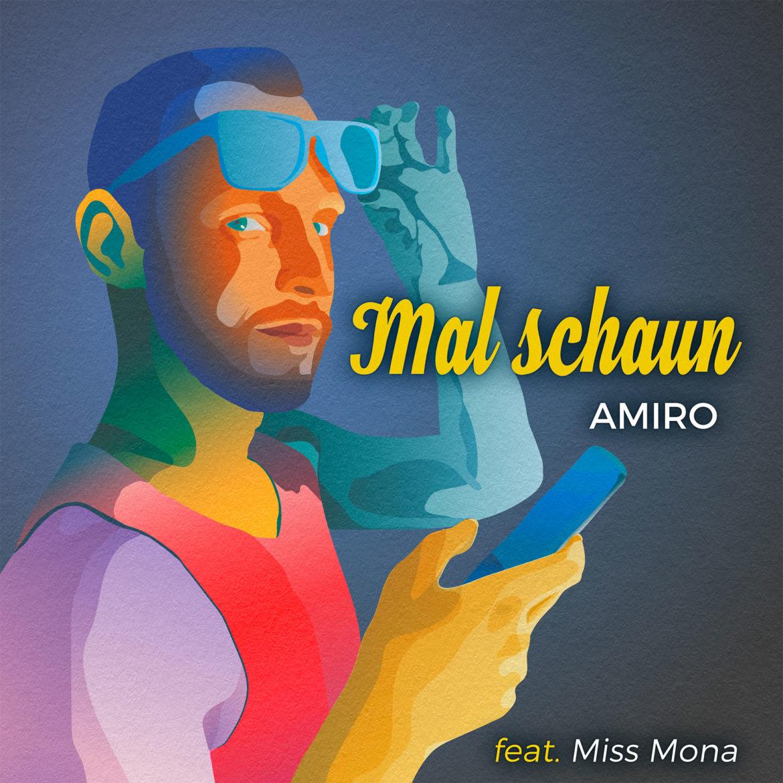 Album Cover: Mal Schaun, Amiro, Adobe Illustrator