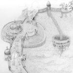 Brücke der Fantasie (in Arbeit), Bleistift auf Papier, A4