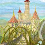 Burg von Dornröschen, Copic Marker, A3