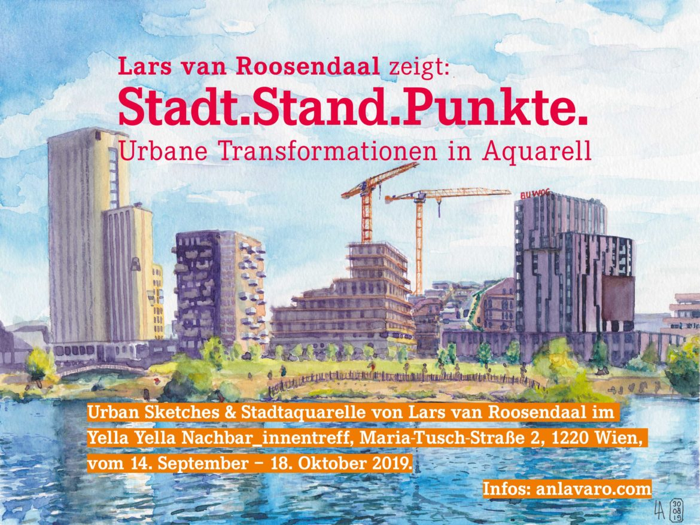 Ausstellung Stadt.Stand.Punkte. – urbane Transformationen in Aquarell