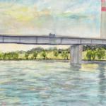 Steinspornbrücke, Wien | Aquarell | 17. Juni 2018