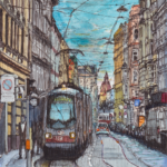 Westbahnstraße, Wien | Aquarell & Fineliner | 29. Juni 2018
