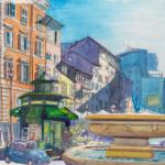 Campo dei Fiori, Rom | Aquarell & Fineliner | 18. Jänner 2019