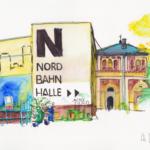 Nordbahnhalle, Wien | Kalligraphiefasermaler, Faber-Castell Pitt Artist Pen Black | 21. Juni 2019